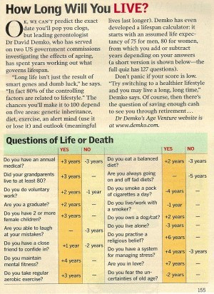 Life-Expectancy Quiz - Death Calculator
